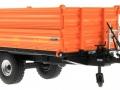 Wiking 7348AG - Einachs-Dreiseitenkipper Brantner E6035 Orange Agritechnica unten vorne rechts