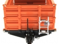 Wiking 7348AG - Einachs-Dreiseitenkipper Brantner E6035 Orange Agritechnica vorne