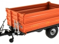 Wiking 7348AG - Einachs-Dreiseitenkipper Brantner E6035 Orange Agritechnica vorne links