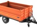 Wiking 7348AG - Einachs-Dreiseitenkipper Brantner E6035 Orange Agritechnica vorne rechts