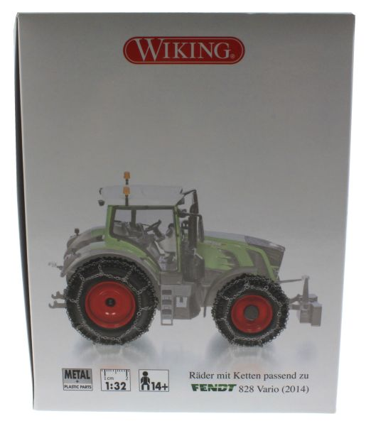 Wiking 7391 - Räder mit Kette für Fendt 828 Vario Karton Seite