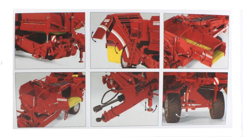 Wiking 7816 - Grimme Bunkerroder SE 260 Karton innen