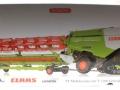 Wiking 7824 - Claas Lexion 760TT Mähdrescher mit V1200 Getreidevorsatz Karton vorne