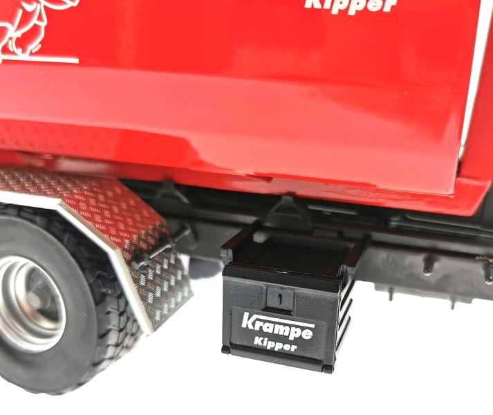 Wiking 7826 - Krampe Kipper Hakenlift THL 30 L mit Abrollcontaine Big Body 750 Box