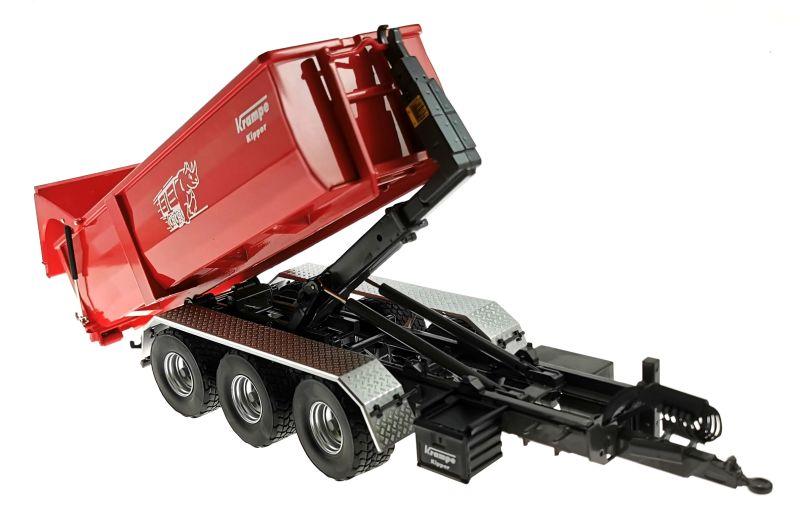 Wiking 7826 - Krampe Kipper Hakenlift THL 30 L mit Abrollcontaine Big Body 750 gekippt vorne