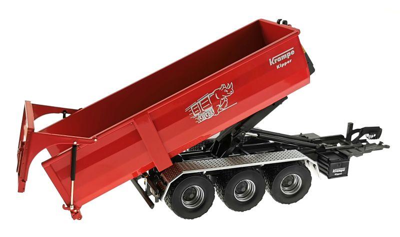 Wiking 7826 - Krampe Kipper Hakenlift THL 30 L mit Abrollcontaine Big Body 750 gekippt