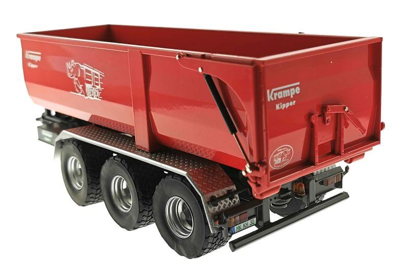 Wiking 7826 - Krampe Kipper Hakenlift THL 30 L mit Abrollcontaine Big Body 750 hinten links