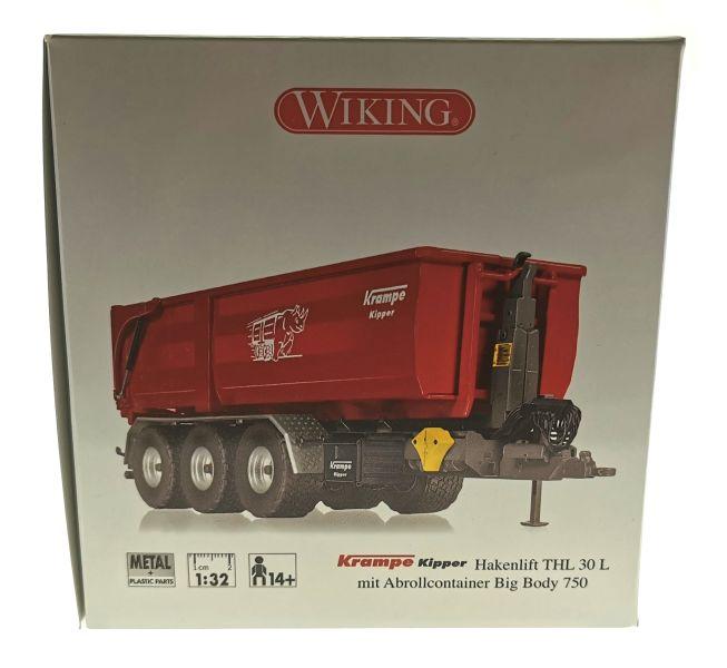 Wiking 7826 - Krampe Kipper Hakenlift THL 30 L mit Abrollcontaine Big Body 750 Karton Seite