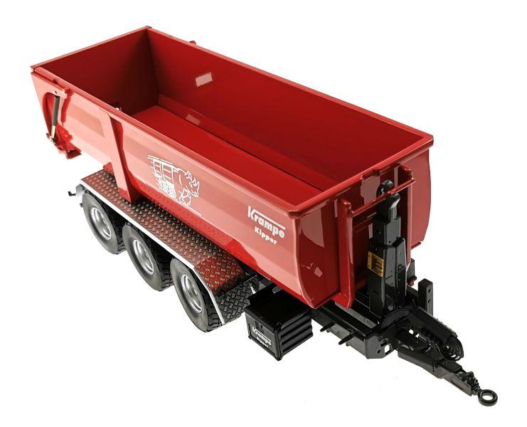 Wiking 7826 - Krampe Kipper Hakenlift THL 30 L mit Abrollcontaine Big Body 750 oben vorne rechts