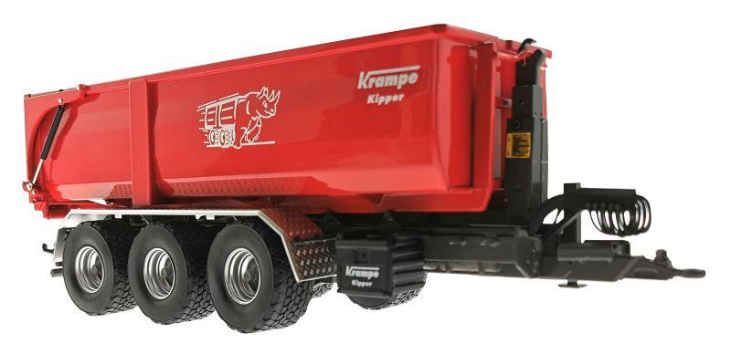 Wiking 7826 - Krampe Kipper Hakenlift THL 30 L mit Abrollcontaine Big Body 750  unten vorne rechts