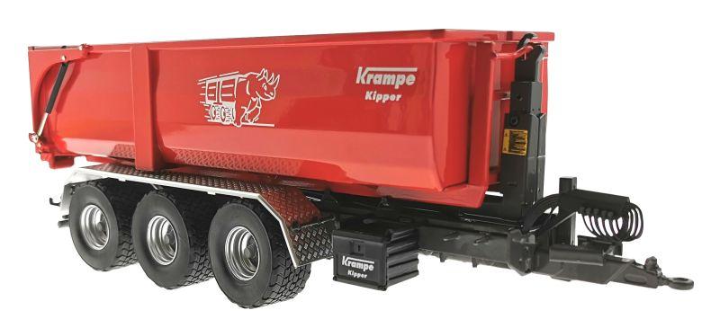 Wiking 7826 - Krampe Kipper Hakenlift THL 30 L mit Abrollcontaine Big Body 750 vorne rechts