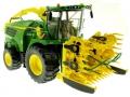 Wiking 7832 - Selbsfahrender Feldhäcksler John Deere 8500i mit Maisaufsatz vorne Links vorne rechts