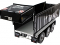 Wiking 877394 - Fliegl Abschiebewagen ASW 391 Black Panther Edition ZLF 2016 Heckklappe
