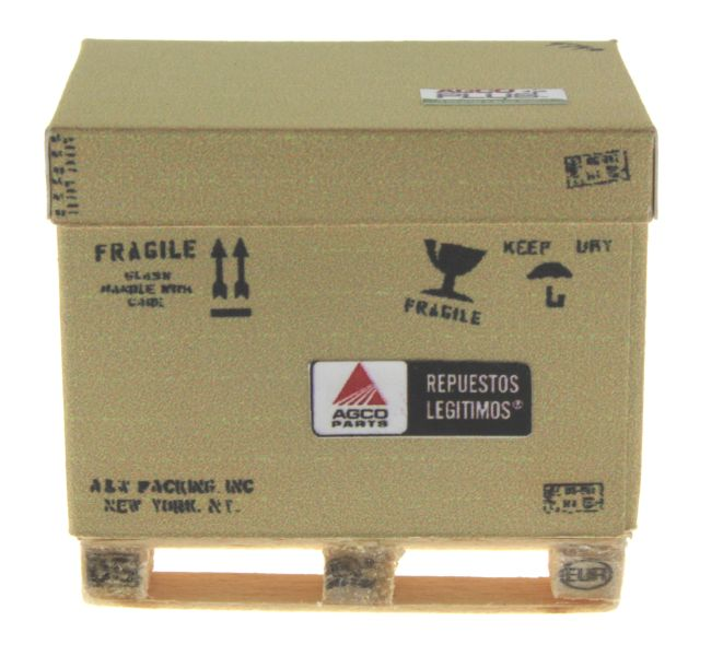 AGCO Karton auf DB Palette vorne