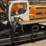 Einbau einer Fahrerfigur in den Siku Control 32 Liebherr Bagger 6740