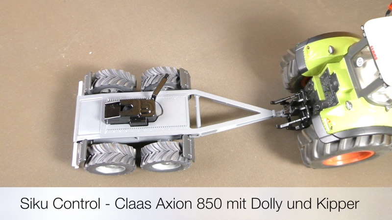 Siku Control - Claas Axion 850 mit Dolly und Kipper