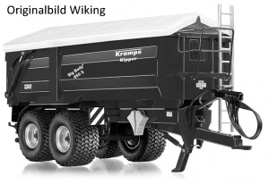 Wiking 7335 - Krampe Big Body 650S Seitenkipper mit Rollplane