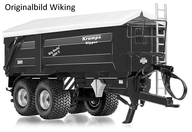 Wiking 7335 - Krampe Big Body 650S Seitenkipper mit Rollplane