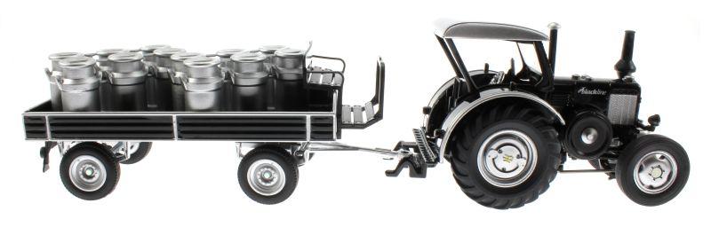 siku 8602 lanz bulldog mit klassischem anh nger blackline. Black Bedroom Furniture Sets. Home Design Ideas