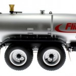 Wiking 7338 - Fliegl Vakuumfasswagen VFW Profiline mit Güllegrubber