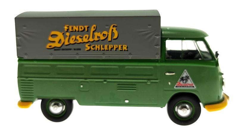 Schuco 450785600 - Volkswagen T1b Pritsche Fendt Dieselross Schlepper
