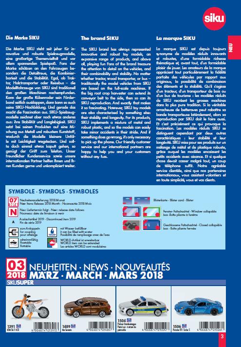 Siku Neuheiten Katalog 2018