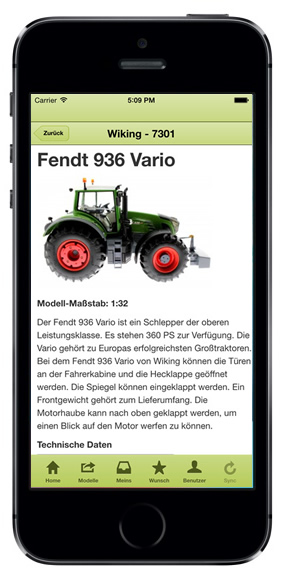 Treckersammlung Appp iPhone