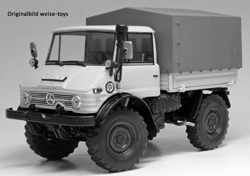weise-toys 1044 -Unimog 406 Ganzstahl-Fahrerhaus in Kieselgrau 2016