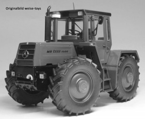 weise-toys 2035 - MB-trac 1500 Bundeswehr Edition in Gelb-Oliv