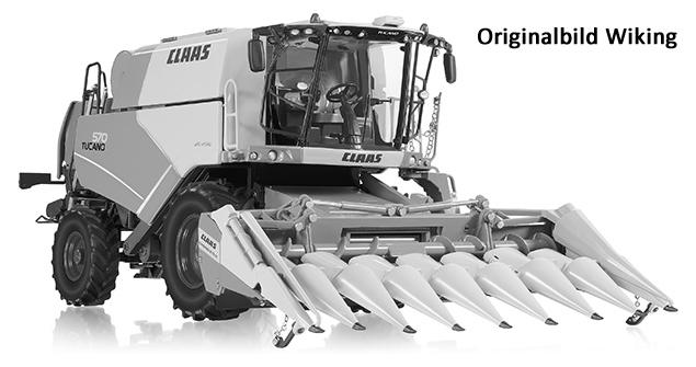 Wiking 7818 - Claas Tucano 570 Mähdrescher mit Maisvorsatz Conspeed 8-75